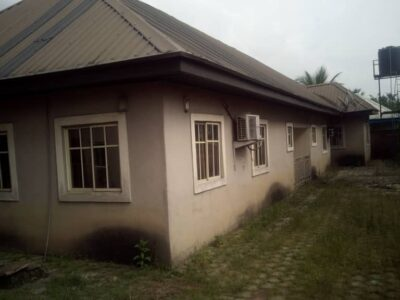 5 bedroom bungalow on 1 plot in a gated estate in Eneka off pearl garden estate going for 16m slight