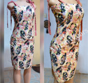 Tube gown with straps