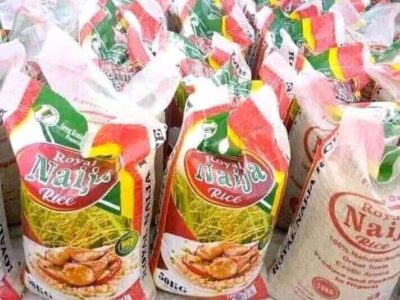 Bag of rice for sale